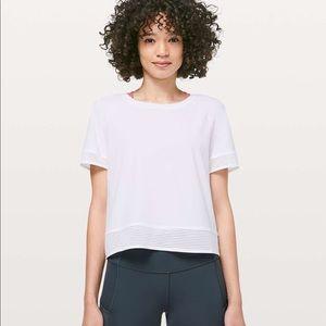 NWOT Lululemon stripe in stride T-shirt